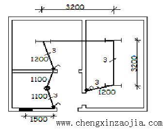 5m,配电线路导线为解:先识图:房间内各管段的配管配线情况,按图示尺寸